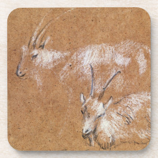 Estudio de las cabras dibujo posavasos
