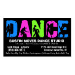 Estudio de las lecciones o de la danza de baile tarjeta personal