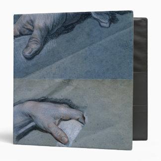 """Estudio de las manos de un hombre carpeta 1 1/2"""""""