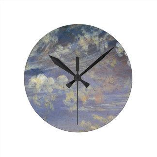 Estudio de las nubes de cirro reloj redondo mediano