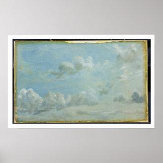 Estudio de las nubes de cúmulo, 1822 (aceite en d  poster