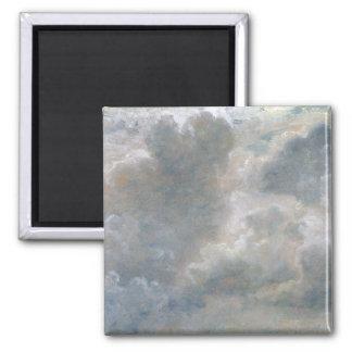 Estudio de las nubes de cúmulo, 1822 (aceite en o  imán cuadrado