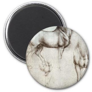Estudio de los caballos - Leonardo da Vinci Imán Redondo 5 Cm