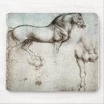 Estudio de los caballos - Leonardo da Vinci Alfombrillas De Ratón
