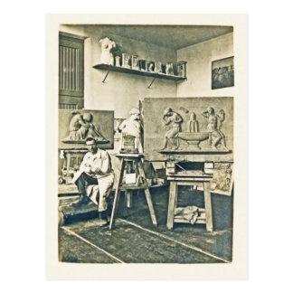 Estudio de Rudolf Henn del escultor de la foto del Postales