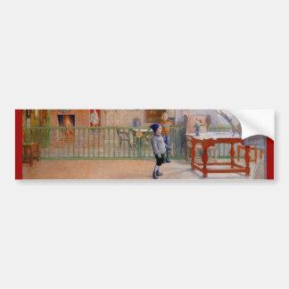 Estudio de Sunborn de Carl Larsson Pegatina De Parachoque