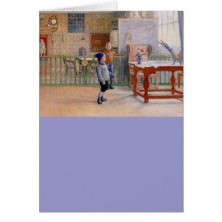 Estudio de Sunborn de Carl Larsson Tarjeta De Felicitación