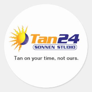 Estudio de Tan24 Sonnen Etiquetas Redondas