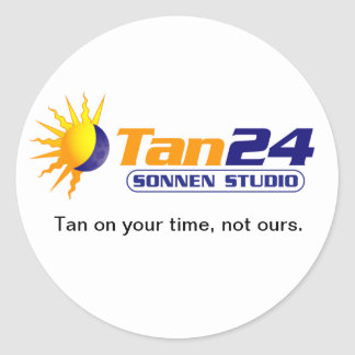 Estudio de Tan24 Sonnen Pegatina Redonda