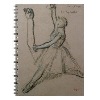 Estudio de un bailarín (tiza en el papel) notebook