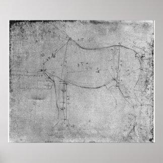 Estudio de un caballo posters