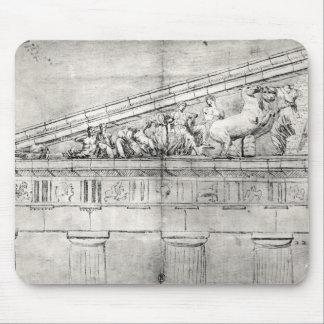 Estudio de un frontón del Parthenon Alfombrillas De Ratones