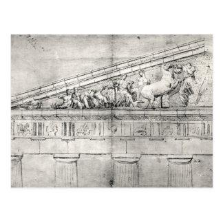 Estudio de un frontón del Parthenon Postal