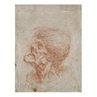 Estudio de un viejo hombre, c.1500-05 de la cabeza postal