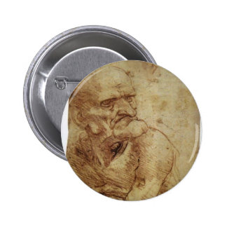 Estudio de un viejo hombre de Leonardo da Vinci Pins