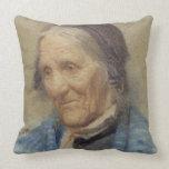Estudio de una mujer mayor, 1912 (w/c en el papel) almohada