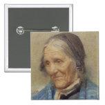 Estudio de una mujer mayor, 1912 (w/c en el papel) pin cuadrada 5 cm