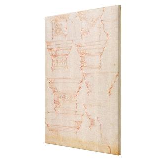 Estudio de W.18v de los capitales de columna Lona Envuelta Para Galerias