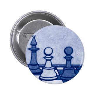 Estudio del ajedrez en azul pin