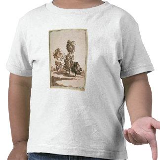 Estudio del árbol (pluma y tinta en el papel) camiseta