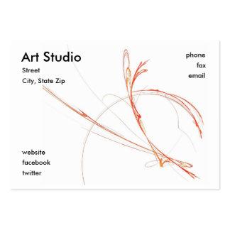 Estudio del arte tarjetas de visita grandes