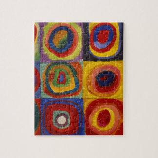 Estudio del color de los círculos de los cuadrados puzzles con fotos