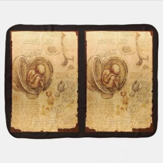 Estudio del feto del bebé de Leonardo da Vinci Mantita Para Bebé