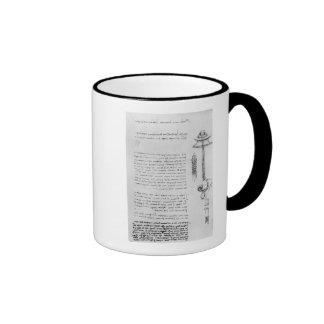 Estudio del flotador con los tubos para respirar p tazas de café