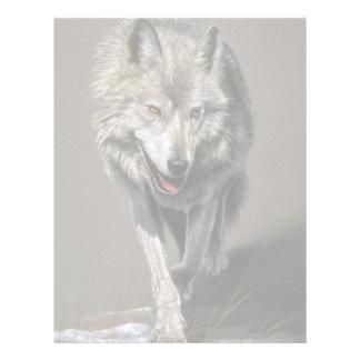 Estudio del lobo de madera membrete