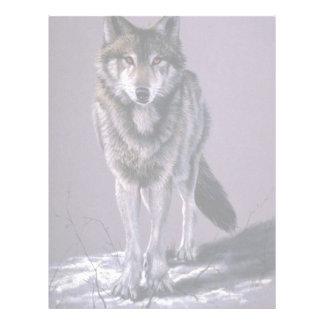 Estudio del lobo de madera plantilla de membrete