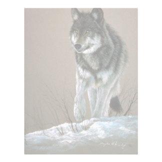 Estudio del lobo membrete a diseño