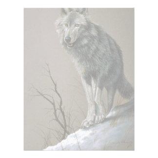 Estudio del lobo plantilla de membrete