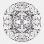 Estudio del ornamento del remolino pegatinas redondas