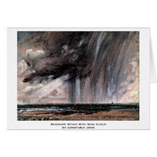 Estudio del paisaje marino con la nube de lluvia d felicitaciones