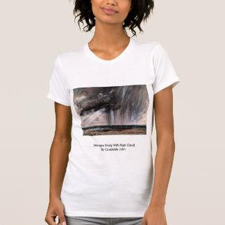 Estudio del paisaje marino con la nube de lluvia camiseta