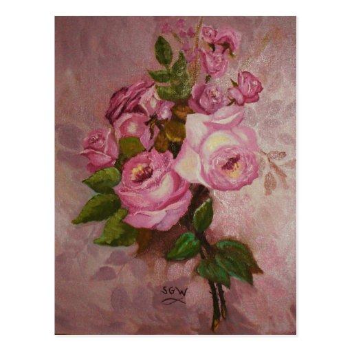 Estudio del rosa tarjeta postal