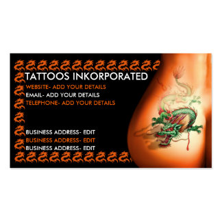 Estudio del tatuaje tarjeta de visita