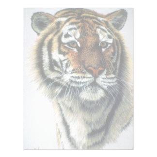 Estudio del tigre de Bengala Membrete