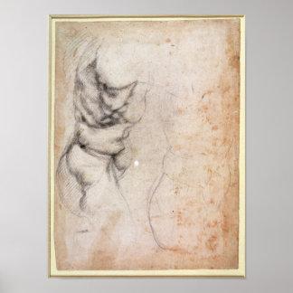 Estudio del torso y de la nalga posters
