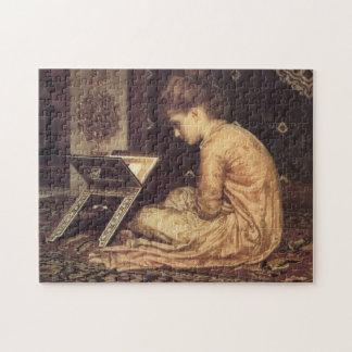Estudio en un escritorio de lectura - señor Federi Puzzles Con Fotos