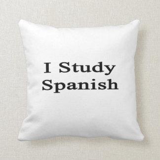 Estudio español almohada