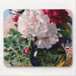 Estudio floral del florero del Victorian Tapetes De Ratón