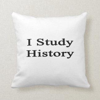 Estudio historia cojines