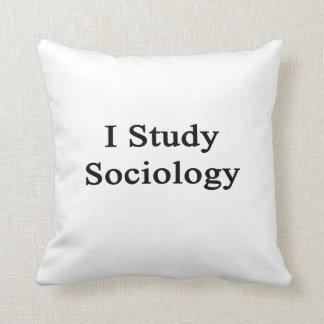 Estudio la sociología cojin