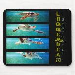 Estudio Mousepad de la tortuga de mar del necio Tapetes De Ratones