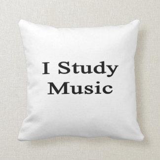 Estudio música cojines