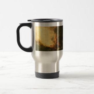 Estudio para el peregrino de la cruz por el col de tazas de café