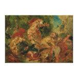 Estudio para la caza del león, 1854 impresion de lienzo
