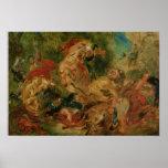 Estudio para la caza del león, 1854 posters