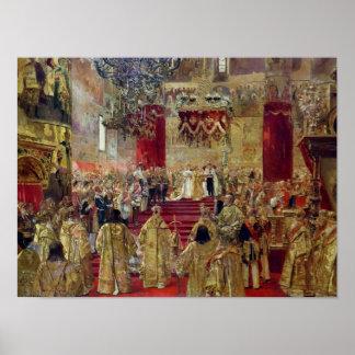 Estudio para la coronación del Tsar Nicolás II Póster
